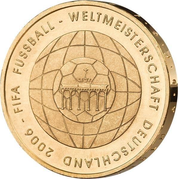 10 Euro BRD FIFA Fußball-WM (4. Version) 2006 vollvergoldet
