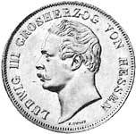 Taler Doppelgulden Ludwig III. 1848-1856  ss-vz