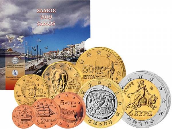 Euro-Kursmünzensatz Griechenland Samos 2019