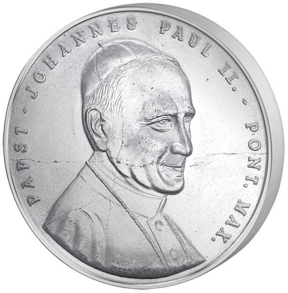 Gedenkprägung BRD Johannes Paul II. in Fulda 1980 prägefrisch