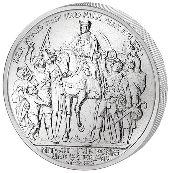2 Mark Preußen Befreiungskriege 1913 Vorzüglich