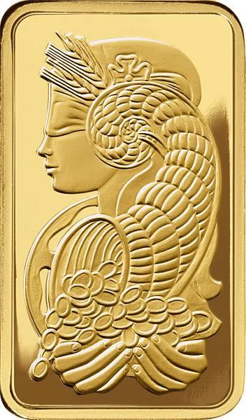 1 Unze Goldbarren Fortuna