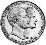 Taler Geschichtsdoppeltaler Ludwig I 1842  vorzüglich