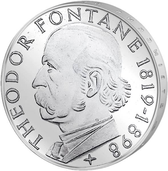 5 DM Münze BRD Theodor Fontane 1969