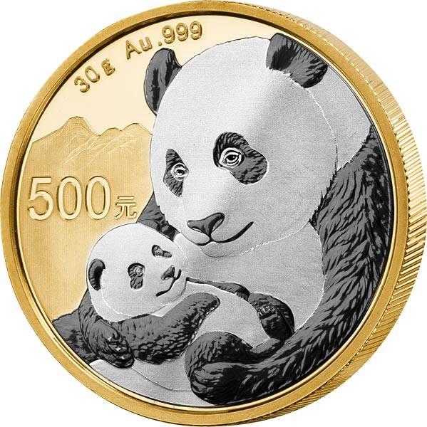 500 Yuan China Doppel Platin Edition Gold Panda 2019