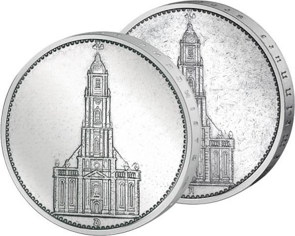 2 x 5 Reichsmark Drittes Reich Garnisonskirche Potsdam ohne Datum 1934 A u. 1935 A Sehr schön
