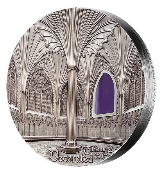 10 Dollars Palau Tiffany Art Amar Kathedrale von Wells 2017