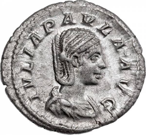 Denar Römisches Kaiserreich Kaiserin Julia Paula 219