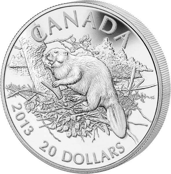20 Dollars Kanada Biber 2013