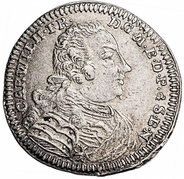6 Kreuzer Brandenburg-Ansbach Markgraf Karl Wilhelm Friedrich 1745-1754