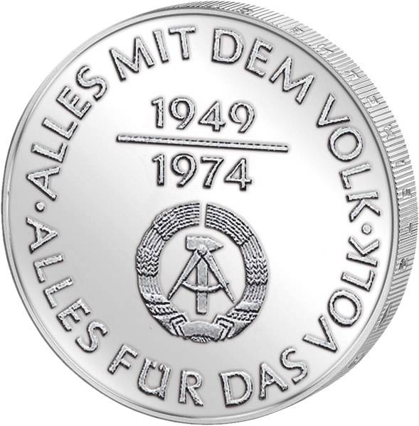 10 Mark DDR 25 Jahre DDR 1974