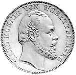 Taler Vereinstaler Karl 1865-1870 Vorzüglich