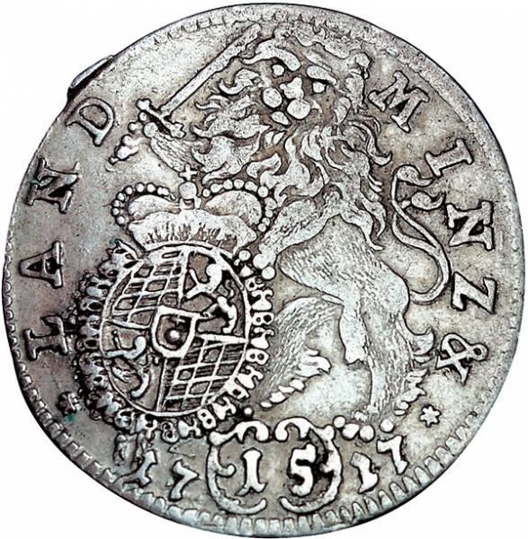 15 Kreuzer Bayern Kurfürst Max II. Emanuel