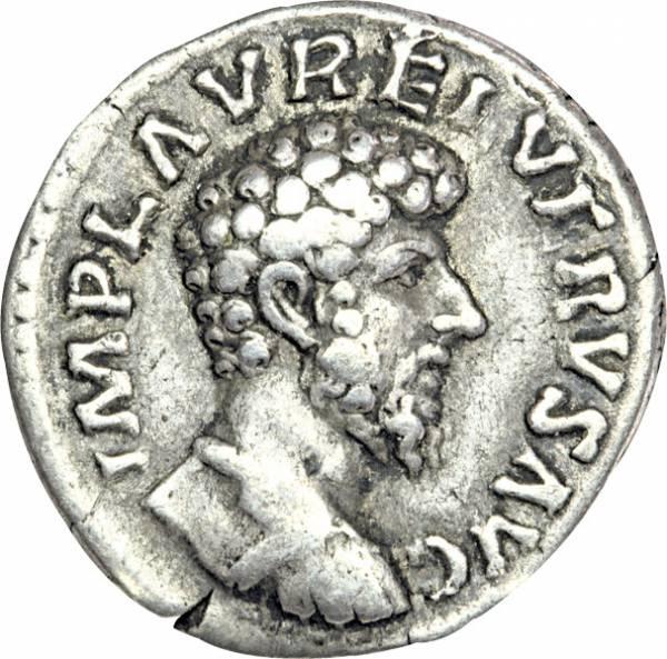 Denar Mitkaiser Lucius Verus 161-169
