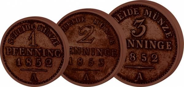 1, 2 und 3 Pfennig Preußen Friedrich Wilhelm IV