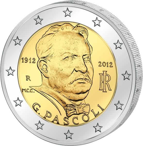 2 Euro Italien Giovanni Pascoli  2012 prägefrisch