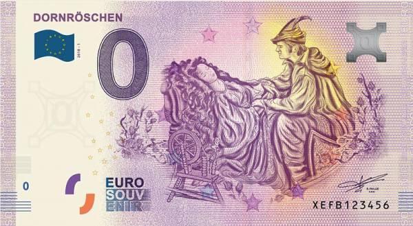 0-Euro-Banknote Dornröschen 2018