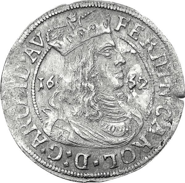 3 Kreuzer Ferdinand Carl 1632-1662 Sehr schön