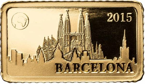 10 Dollars Salomonen Barcelona Sagrada Familia 2015