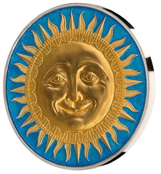 5 Dollars Niue Himmelskörper Sonne 2017
