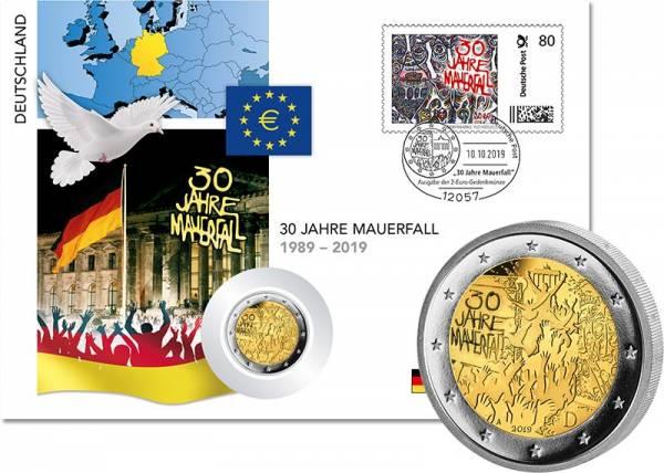 2 Euro Numisbrief BRD 30 Jahre Mauerfall 2019
