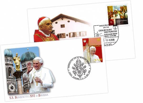Gedenkbriefe Papstbesuch in Bayern