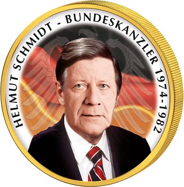 2 Euro BRD Helmut Schmidt JuW mit Gold-Applikation