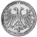 Taler Doppelgulden Gründung Parlament 1848 Sehr schön