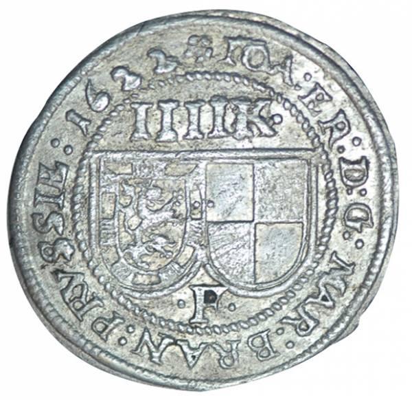 4 Kreuzer Brandenburg-Ansbach Markgraf Joachim Ernst 1622-1625 ss-vz