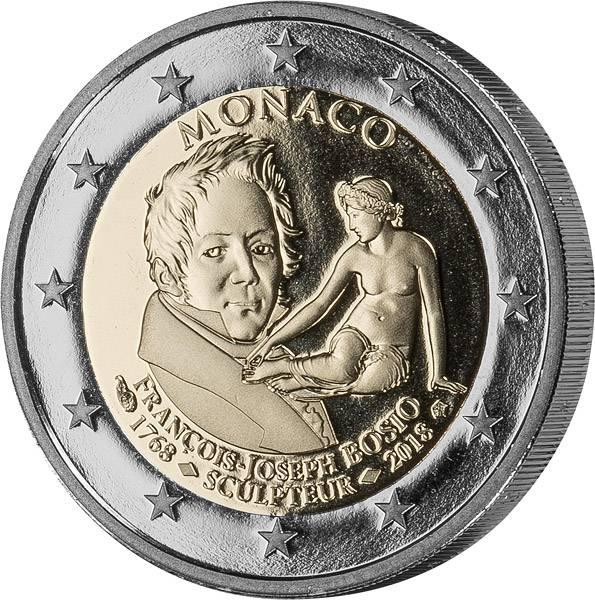 2 Euro Monaco 250. Geburtstag von Francois-Joseph Bosio 2018