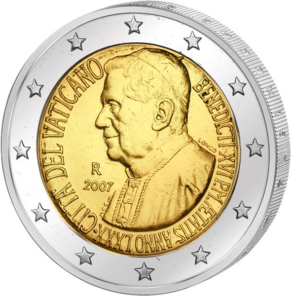 2 Euro Vatikan 80 Geburtstag Benedikt Xvi 2007 Vatikan 2 Euro