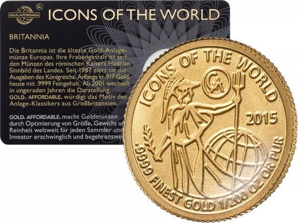 1/200 Unze Gold Ruanda Britannia 2015