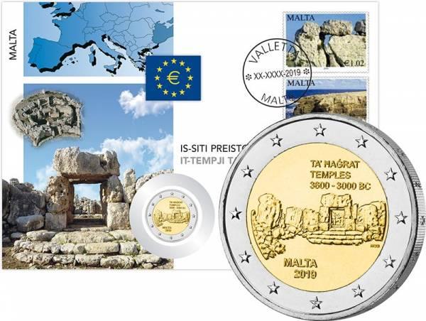 2 Euro Numisbrief Malta Von Kinder mit Solidarität Kulturelles Erbe 2018