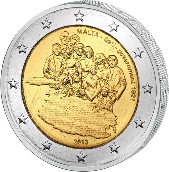 2 Euro Malta Einrichtung der Selbstverwaltung 2013