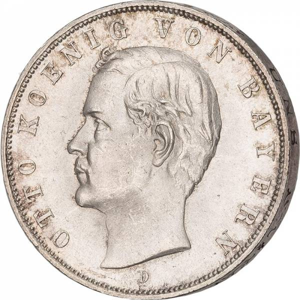 3 Mark Deutsches Kaiserreich  König Otto von Bayern 1908-1913