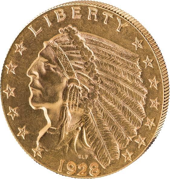 2,5 Dollars USA Indianerkopf 1908 - 1929