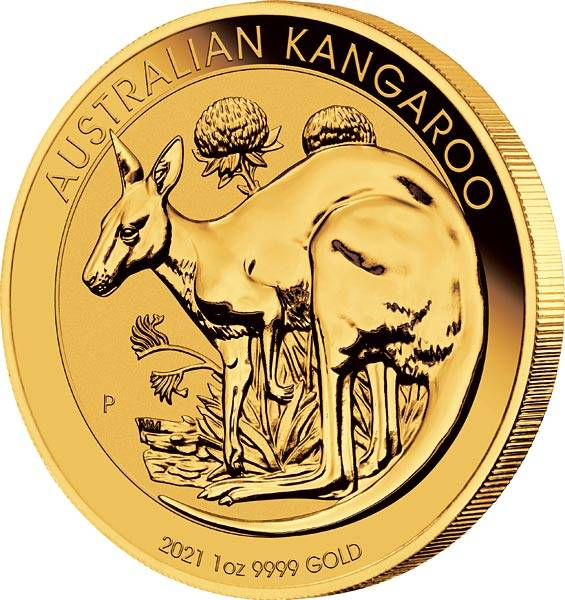 1 Unze Gold Australien Känguru 2021