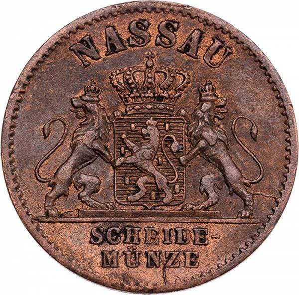 1 Pfennig Nassau Herzog Adolf 1859, 1860, 1862