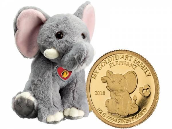 10 Dollars Salomonen My Goldheart Family Elefant 2018