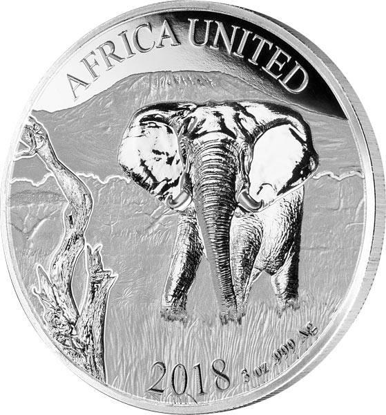 6 x 1.500 Francs Afrika Africa United Elefant 2018