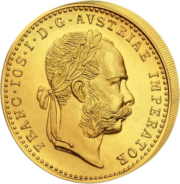 1 Dukat Österreich Kaiser Franz Joseph I. 1915 prägefrisch