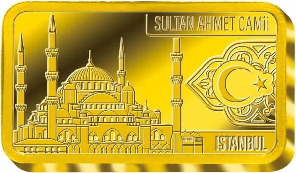 0,5 Gramm Goldbarren Wahrzeichen der Türkei Sultan-Ahmed-Moschee