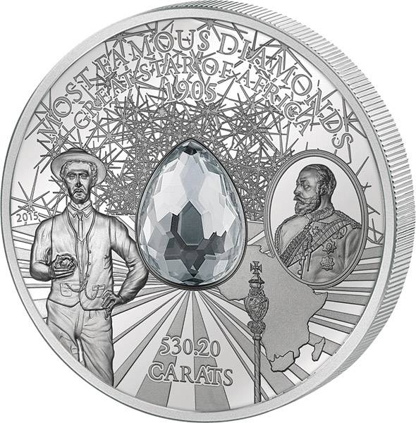10 Dollars Cook-Inseln Great Star of Africa 2015 Polierte Platte (PP)