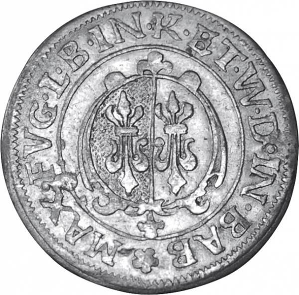 1/2 Batzen Fugger-Babenhausen-Wellenburg Graf Maximilian II. 1598-1629   sehr schön