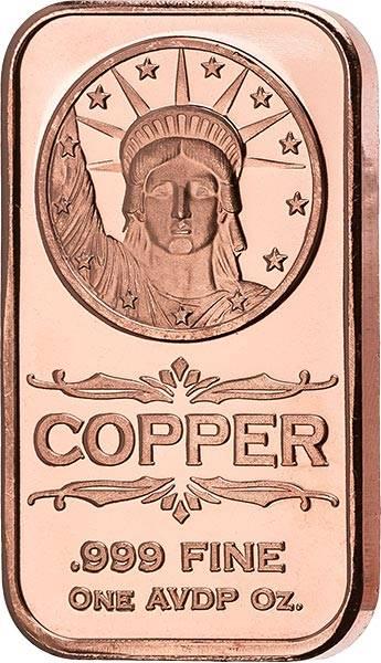 1 AVDP-Unze Kupfer Gedenkprägung Liberty Head
