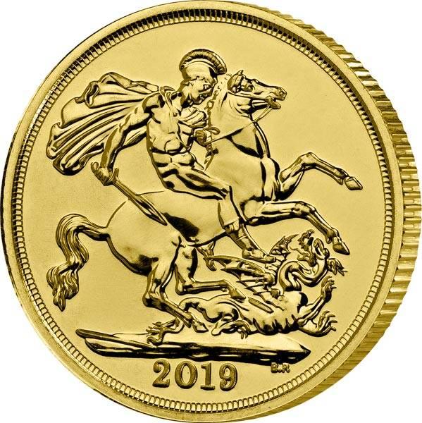 1 Sovereign Großbritannien Queen Elizabeth II. 2019