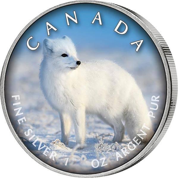 5 Dollars Kanada The Trails of Wildlife Polarfuchs 2021