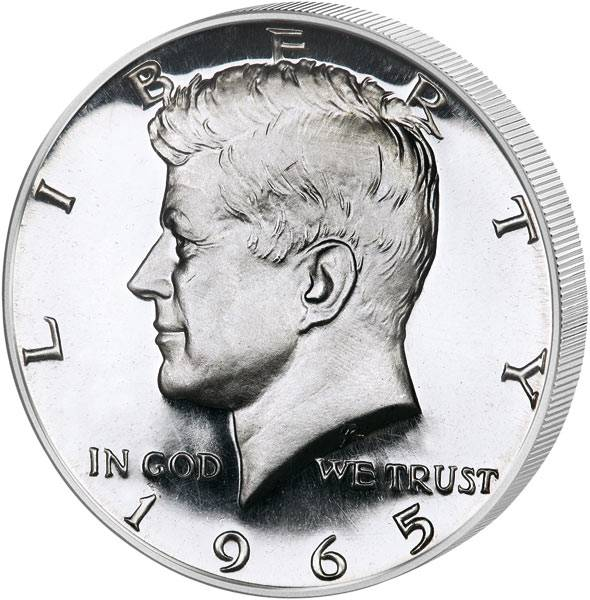 1/2 Dollar USA John F. Kennedy 1965 - 1970