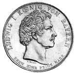 Geschichtstaler Ludwig I. Maximilian Joseph Denkmal 1835 vz-pfr