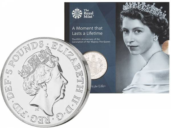 5 Pounds Großbritannien Krönungsjubiläum Queen Elizabeth II. 2018